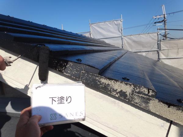【和歌山市・西庄】I様邸 破風、軒天パテ処理からの屋根塗装です!