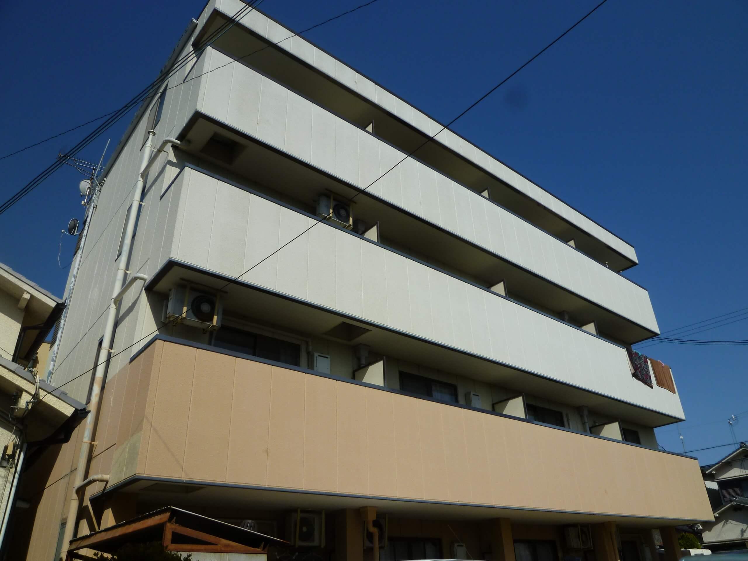 【和歌山市Sマンション】外壁塗装工事【フッ素プラン】before