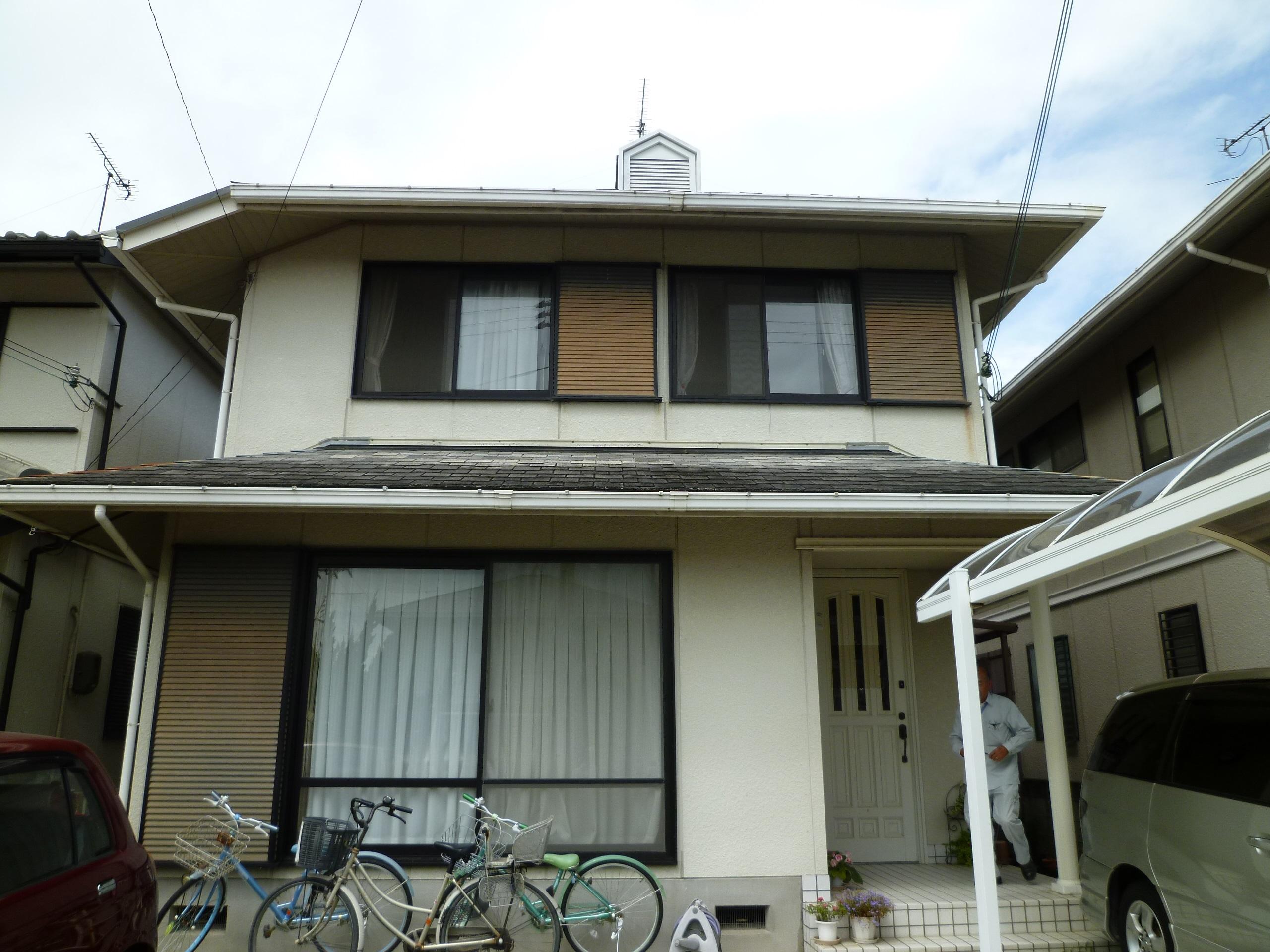 【和歌山市K様邸】外壁・屋根塗装工事【オールシリコンプラン】before