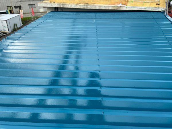 和歌山県下津町G様邸#2 折版金属屋根のシリコン塗装