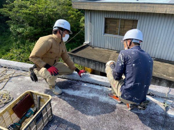 【和歌山県Y様邸】雨漏り修理・防水工事【下地調整を行います】