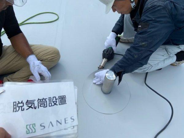 【和歌山県Y様邸】雨漏り修理の細かい作業。【改修ドレン・脱気筒設置】