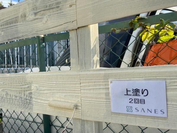 【和歌山県海南市】美容室の木部キシラデコール仕上げ。