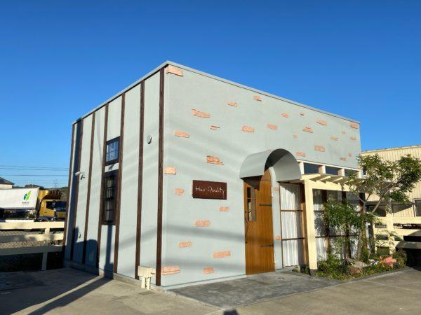 【和歌山県海南市】美容室の外壁塗装ビフォーアフターです。