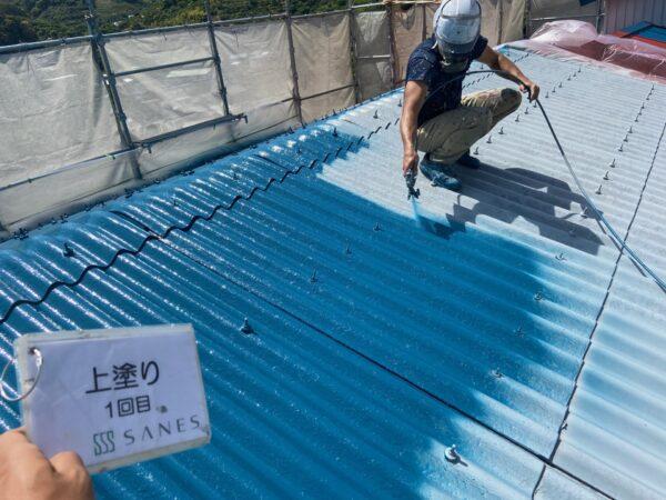 和歌山県海南市N様邸 倉庫 屋根・外壁の塗装作業報告②